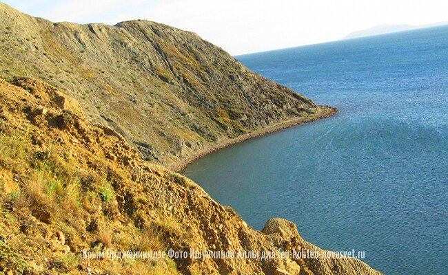 Крым Орджоникидзе гора Васюкова вид на море